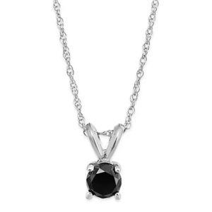 Helzberg black diamond Pendant and earrings